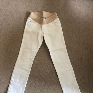 Old Navy Maternity White Jeans